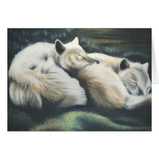 """""""Arctic Foxes"""" Card"""