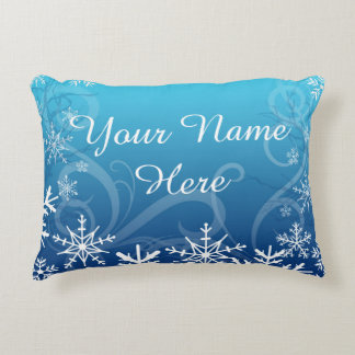 Arctic Frozen Snowdrift Personalized Decorative Cushion