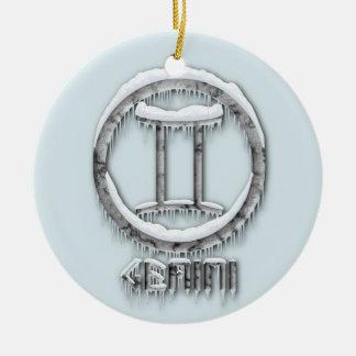 Arctic Gemini Round Ceramic Decoration