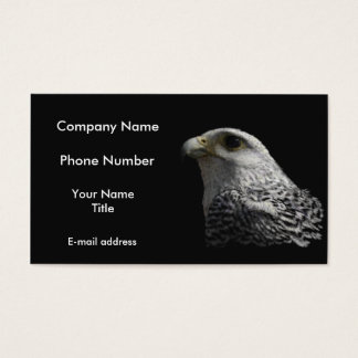 Arctic Gyrfalcon Portrait Painting Business Card