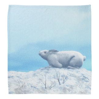Arctic hare, lepus arcticus, or polar rabbit bandana