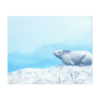 Arctic hare, lepus arcticus, or polar rabbit canvas print