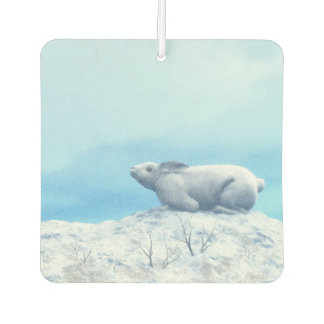 Arctic hare, lepus arcticus, or polar rabbit car air freshener