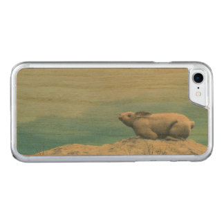 Arctic hare, lepus arcticus, or polar rabbit carved iPhone 7 case