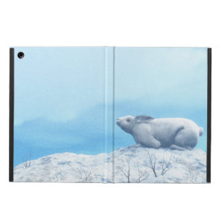 Arctic hare, lepus arcticus, or polar rabbit cover for iPad air
