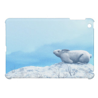 Arctic hare, lepus arcticus, or polar rabbit cover for the iPad mini