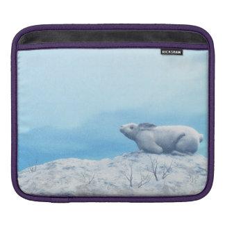 Arctic hare, lepus arcticus, or polar rabbit iPad sleeve