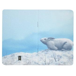 Arctic hare, lepus arcticus, or polar rabbit journal