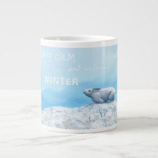 Arctic hare, lepus arcticus, or polar rabbit large coffee mug