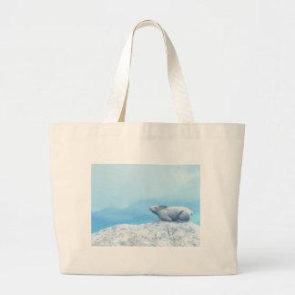 Arctic hare, lepus arcticus, or polar rabbit large tote bag