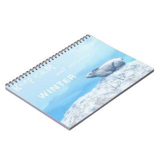 Arctic hare, lepus arcticus, or polar rabbit notebook