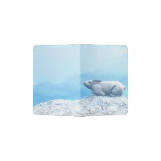 Arctic hare, lepus arcticus, or polar rabbit passport holder