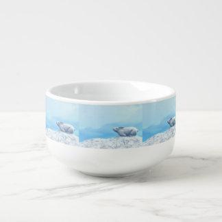 Arctic hare, lepus arcticus, or polar rabbit soup mug