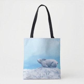 Arctic hare, lepus arcticus, or polar rabbit tote bag