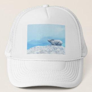 Arctic hare, lepus arcticus, or polar rabbit trucker hat