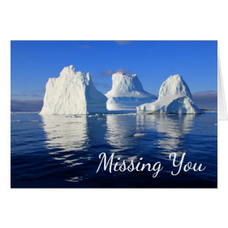 Arctic Icebergs Missing You Blank Photo Note Card