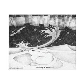 Arctic Jackalope Canvas Print