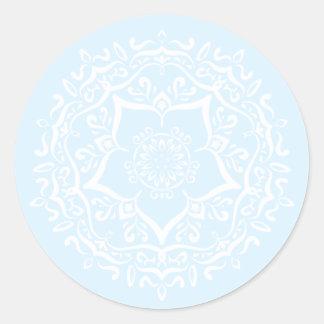 Arctic Mandala Classic Round Sticker