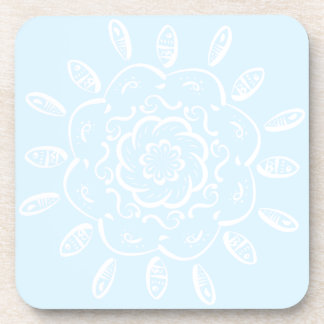 Arctic Mandala Coaster