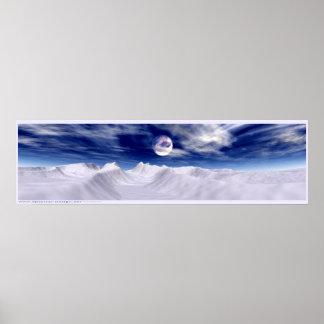 Arctic Moon Poster