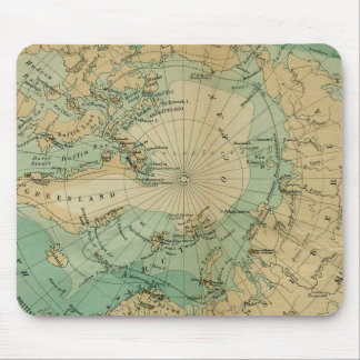 Arctic Ocean Antique Map Mouse Pad