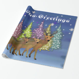 Arctic Reindeer Wrapping Paper