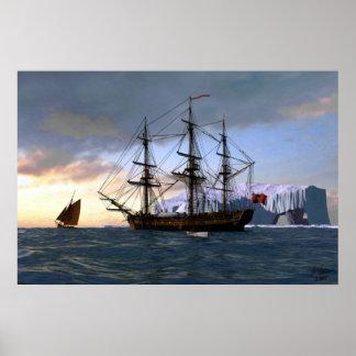 arctic sailing poster