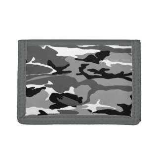 Arctic Snow Camo Trifold Wallets