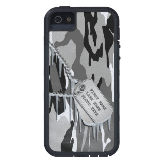 Arctic Snow Camo w/ Dog Tags iPhone 5 Covers