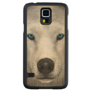 Arctic Wolf Carved Maple Galaxy S5 Case