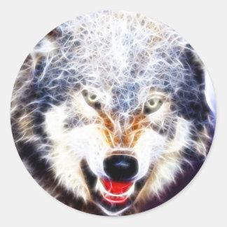 Arctic Wolf Classic Round Sticker