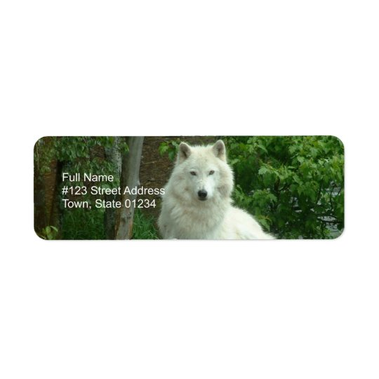 Arctic Wolf Return Address Label
