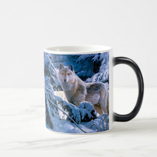 Arctic wolf - white wolf - wolf art magic mug