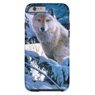 Arctic wolf - white wolf - wolf art tough iPhone 6 case