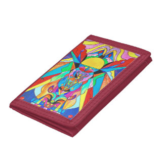 """Arcturian Metamorphosis Grid"" Nylon Wallet"