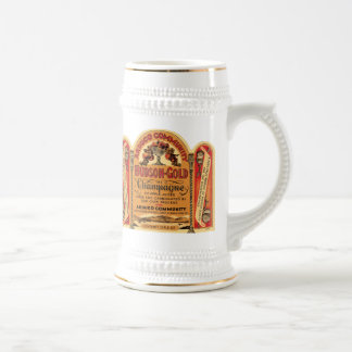 Arduco Community Hudson Gold Champagne Mugs, Stein Beer Steins