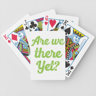 are we there yet? bicycle playing cards