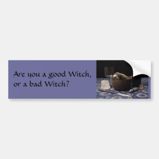 Are you a good Witch, or a bad Witch? Bumper Sticker