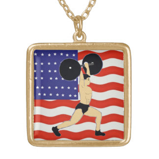 Are you a weightlifter? gold plated necklace