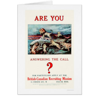 Are you Answering the Call US02111 Greeting Cards