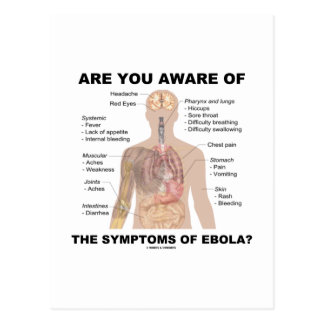 Are You Aware Of The Symptoms Of Ebola? Postcard