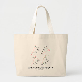 Are You Congruent? (Congruent Angles) Canvas Bags