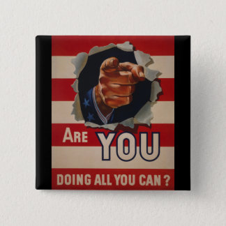 Are you doing all you can? 15 cm square badge