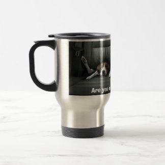 Are you driving too fast? travel mug