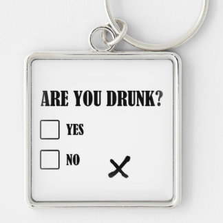 are you drunk funny text message illustration ques key ring