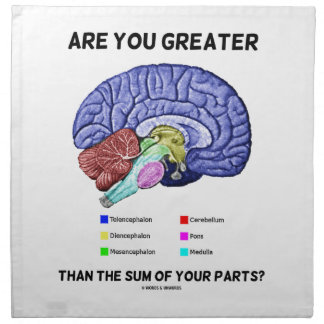 Are You Greater Than The Sum Of Your Parts? Brain Cloth Napkin