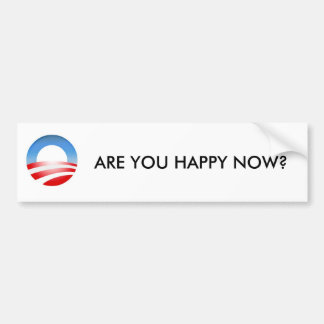 Are You Happy Now Car Bumper Sticker