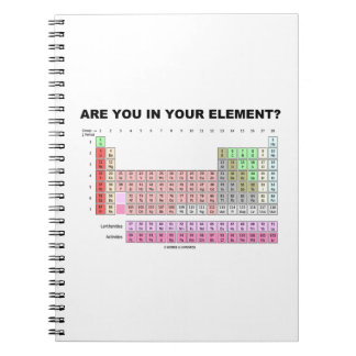 Are You In Your Element? Periodic Table Humor Notebooks