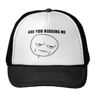 Are You Kidding Me Rage Face Meme Cap