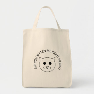 Are You Kitten Me Now? Grocery Tote Bag